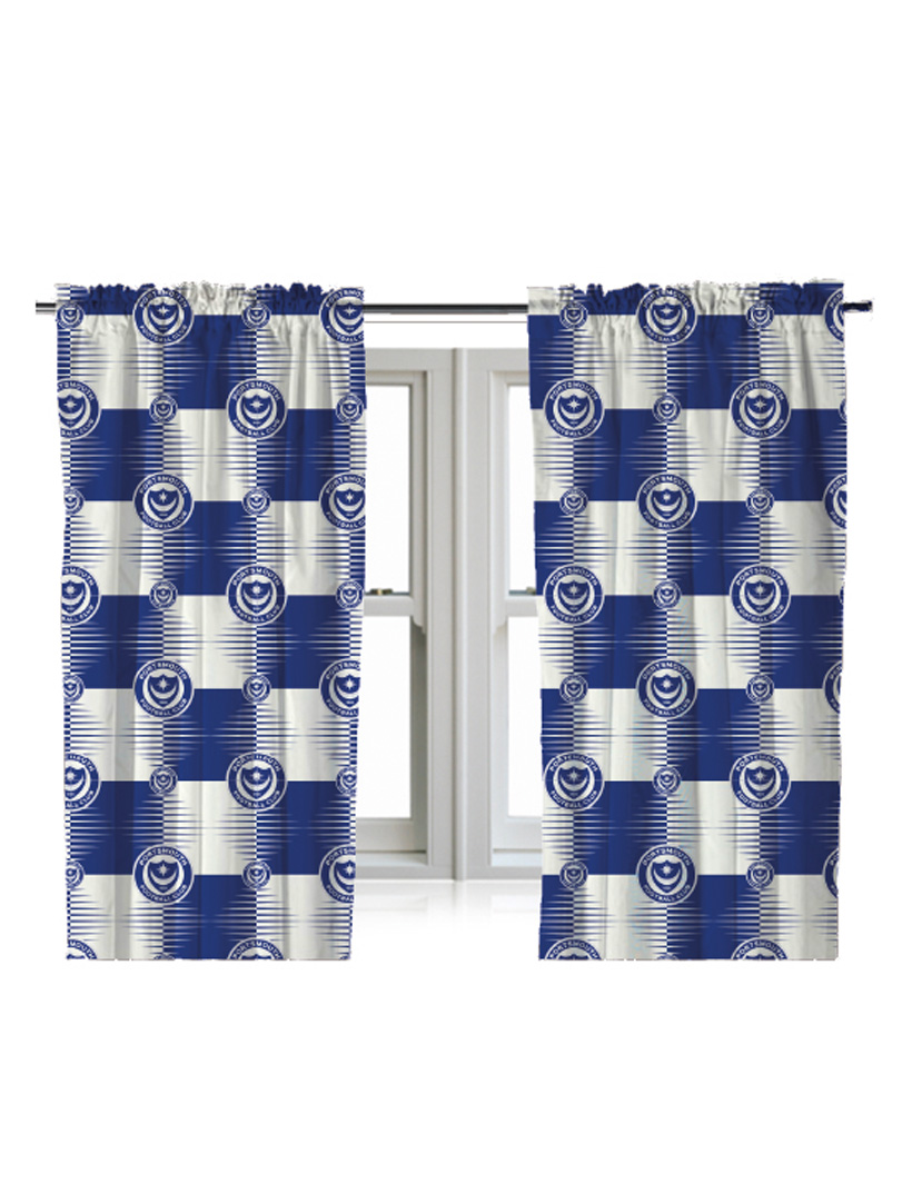 Portsmouth Fc Online Store 54 Drop Curtains